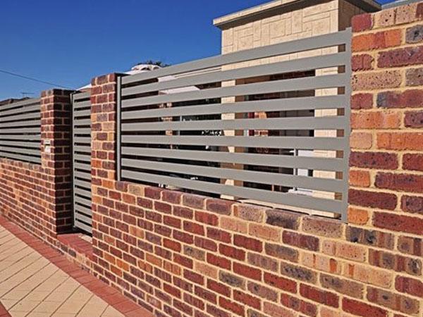 Brick Pillar Fence Perth