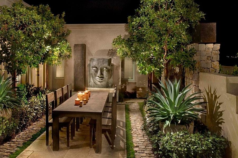 Brick Wall Courtyard